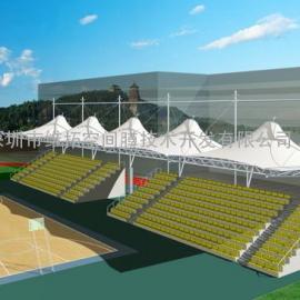 深圳网球场改造、网球场膜结构施工