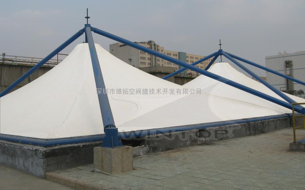 膜结构加盖 重庆污水池加盖工程图片 高清大图 谷瀑环保