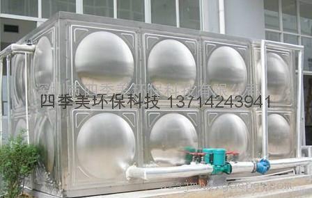 深圳不锈钢水箱,强度高,易于安装(现场制作安装)