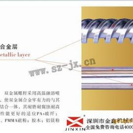 湛江注塑机螺杆 螺杆炮筒图片 注塑机螺杆生产厂家 金鑫久负盛名