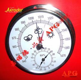 指针大气压力计,大气压力温湿度计,全金属外壳