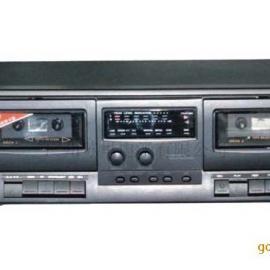 校园广播立体声双卡座 智能公共广播系统音源播放主机