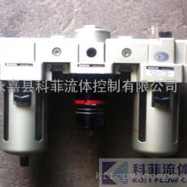 SMC气源处理三联件(过滤减压阀+给油器)