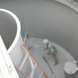 深圳老虎坑电厂除盐水箱喷涂聚脲涂料聚脲施工工程