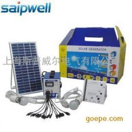 斯普威尔 6W家用太阳能发电系统 小型太阳能发电 便携发电系统
