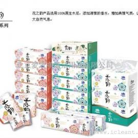 维达200抽花之韵软抽面巾V2145-1抽取式面巾纸3包