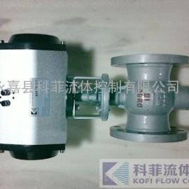 PQ640Y气动金属硬密封偏心半球阀