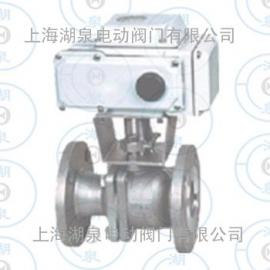 PN1.6 DN80电动法兰球阀,不锈钢电动球阀