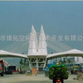 广深高速收费站顶棚膜结构工程