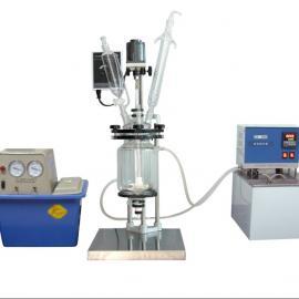 双层玻璃反应釜|武汉中试玻璃反应器|武汉小型双层玻璃反应器