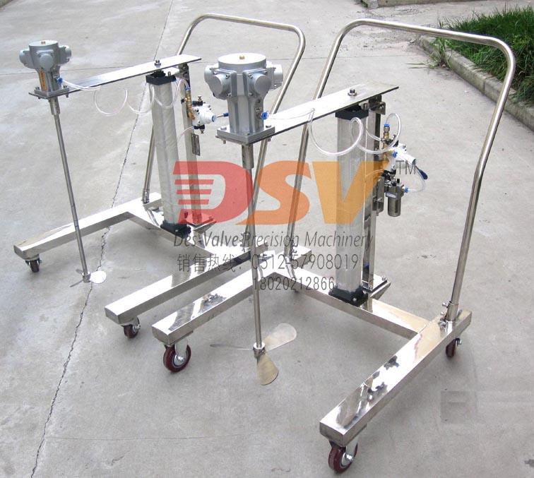 气动搅拌机不锈钢u型气动升降搅拌机图片