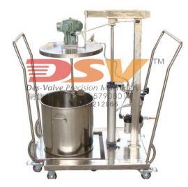 气动搅拌机不锈钢气动升降搅拌机配小推车