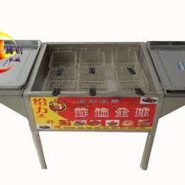 多功能燃气油炸锅|燃气油炸炉|炸油条机器