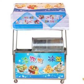 炒冰机冰粥机组合冷饮车