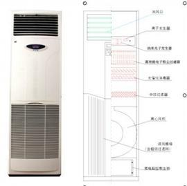 立柜式离子氧杀菌除臭净化机