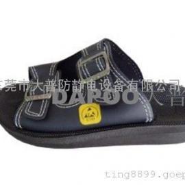 现货直供防静电皮革拖鞋,防静电鞋