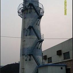 白银烟囱折梯安装、烟囱安装检测平台