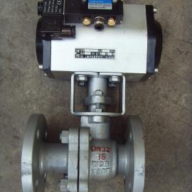 Q641F-16C-DN25铸钢气动球阀