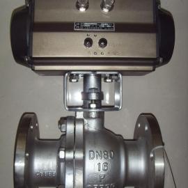 Q641F-16P-DN80 304不锈钢气动球阀