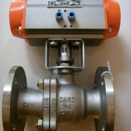 Q641W-16P-DN50 304不锈钢气动硬密封球阀