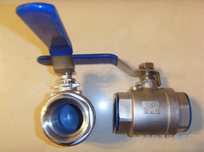 q11f-16p-dn40 304不锈钢二片式球阀图片