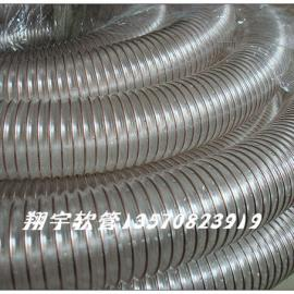 PU吸尘管,耐磨塑料钢丝增强软管,透明工业软管