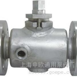 BX43W-10P-DN40 304不锈钢保温二通旋塞阀