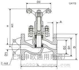 U41H-16C-DN350法�m柱塞�y