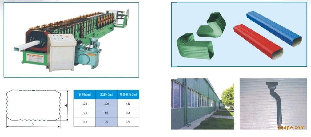节能建材 昆山长泰钢品有限公司 产品展示 钢结构厂房零配件 落水管 >
