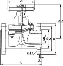G41J-10-DN100衬胶隔膜阀 G45J衬胶隔膜阀