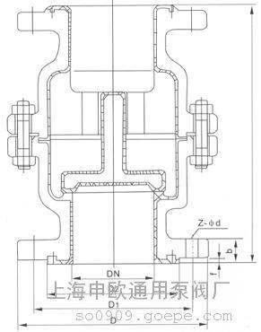 h42f46-16c-dn150衬氟立式止回阀 衬氟单向阀图片