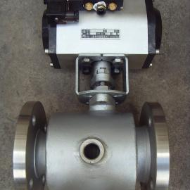 BQ641F-16P-DN50 304不锈钢气动保温球阀