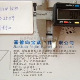DIN1481-2.5*9 弹性圆柱销,开口销65Mn