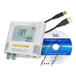 FOTEL生产销售多路高温测试仪L93-2H,耐高温温度计