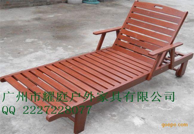 海南沙滩椅批发,实木结构防腐防晒,质量保证