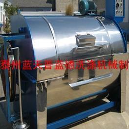 200公斤卧式滚筒工业洗衣机,大型服装水洗洗染设备