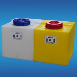广东环保公司圆形40升纯水加药箱计量箱