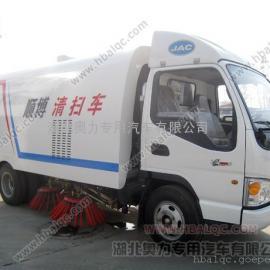 江淮帅铃道路清扫车 扫路车现货 小型自动喷水清扫车