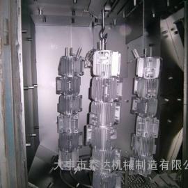 东莞吊钩打砂机-电机壳自动抛丸机