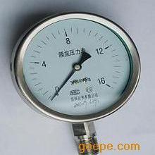 不锈钢膜盒压力表,膜盒压力表,YE-100B