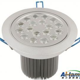 18W大功率LED天花�� LED筒�� 天花射�� �M口LED芯片 高亮低光衰