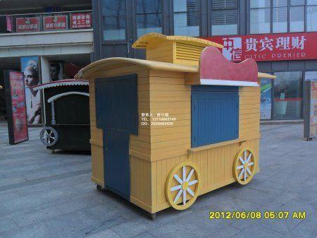 武汉广场售货花车,武汉景区商业街售货亭