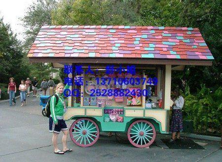 西安广场售货花车,西安景区商业街售货亭
