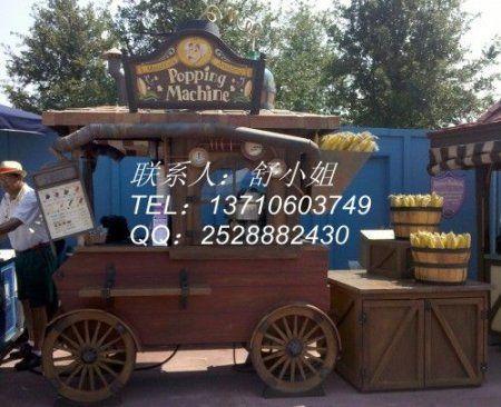 温州广场售货花车,温州景区商业街售货亭