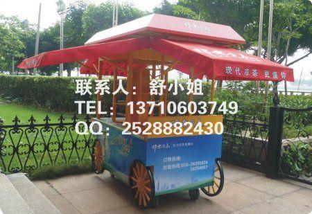 邯郸广场售货花车,邯郸景区商业街售货亭