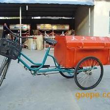直销人力保洁环卫三轮车价格不锈钢垃圾车