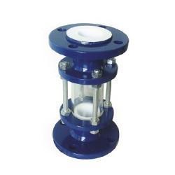 直通式衬氟视盅HGS07玻璃管式衬氟视镜