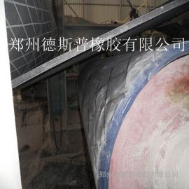 现场滚筒包胶采用德国耐磨胶板