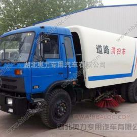 东风153大型扫地车/垃圾清扫车视频/小型燃油扫地车