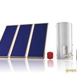 平板太阳能集热器-与中央空调结合使用的北京海林平板太阳